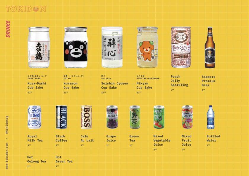 TOKIDON Menu_drinks