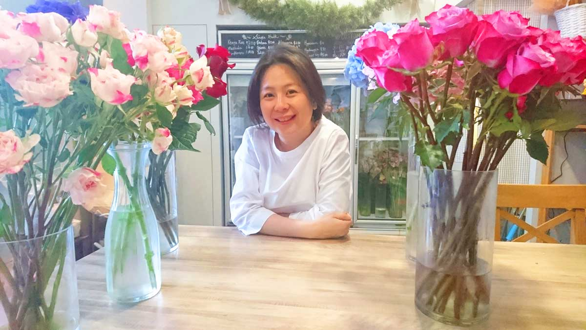 Starting her floral business motivated by passion